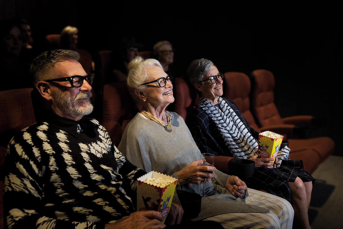 Senior people in the cinema at Drummond Place