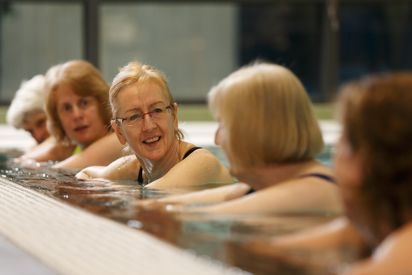 Senior women in the pool at Rathdowne Place Wellness Centre